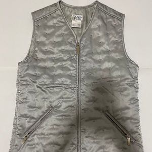 Escada Sport quilted vest Size S Silver grey